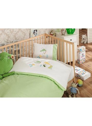 Kaykaycı  Nakışlı Yeşil Bebek Nevresim Takımı-Sunny Funny